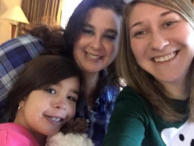 Alex, Danielle, and Ally selfie